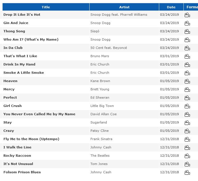 NAPA DESIGNATED DRIVERS ™ Screenshot_2021-04-05-My-Files4 Karaoke Song List